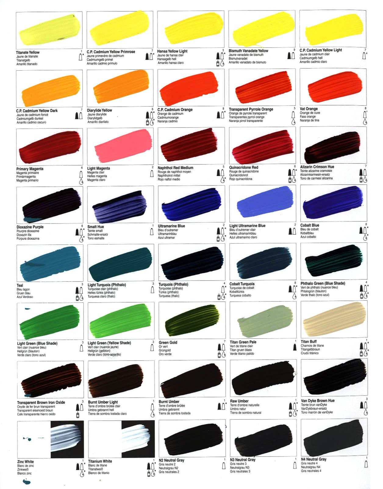 Цветовая палитра цвета для авто с фото