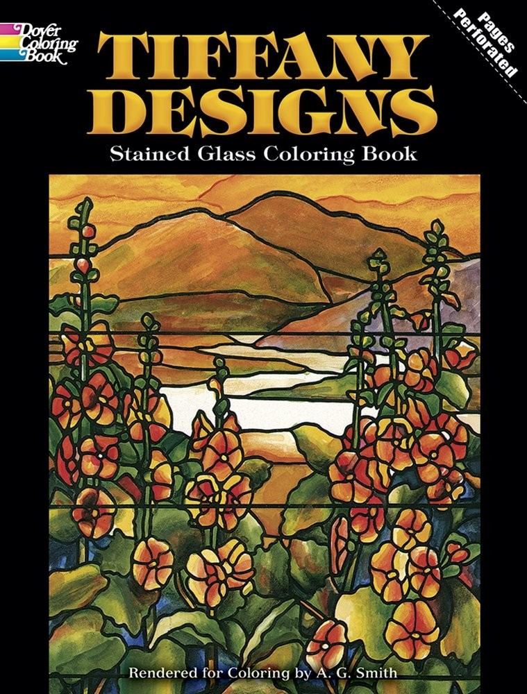 Tiffany Designs Stained Glass Coloring Book по 309.00 руб от изд. Dover