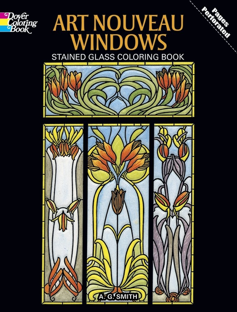 Art Nouveau Windows Stained Glass Coloring Book по 309.00 руб от изд. Dover