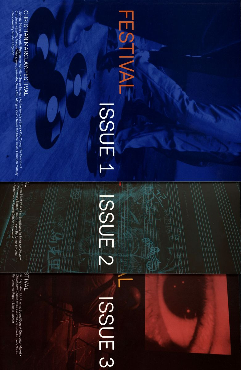 Christian Marclay: Festival Issues 1-3 (3 books) по 1 666.00 руб от изд. Yale
