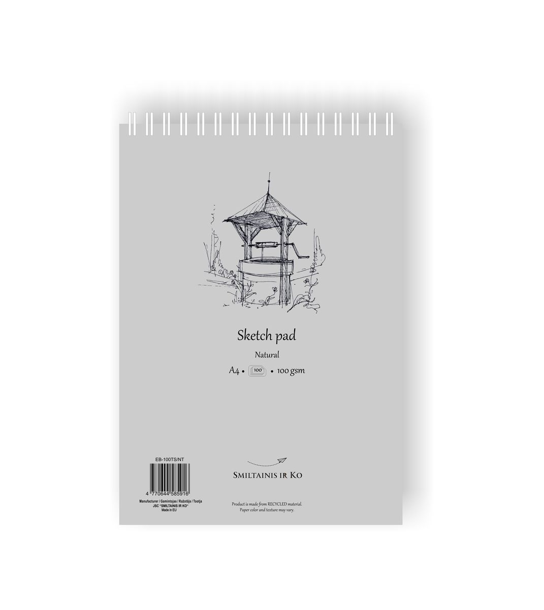 Скетчбук SKETCH PAD NATURAL 100г/кв.м 210х297мм, 100л, на спирали по 730.00 руб от SM-LT