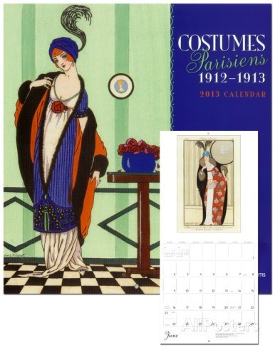 "Календарь""Costumes Parisiens 1912-1913"" 2013 по 500.00 руб от Pomegranate"