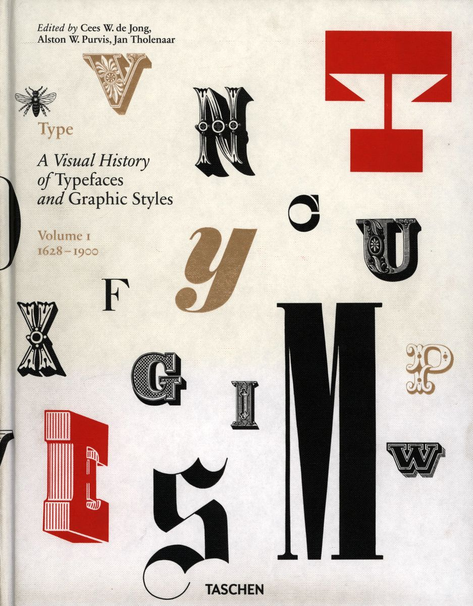 Type. A Visual History of Typefaces & Graphic Styles. 1628-1900. Volume 1 по 2 992.00 руб от изд. Taschen