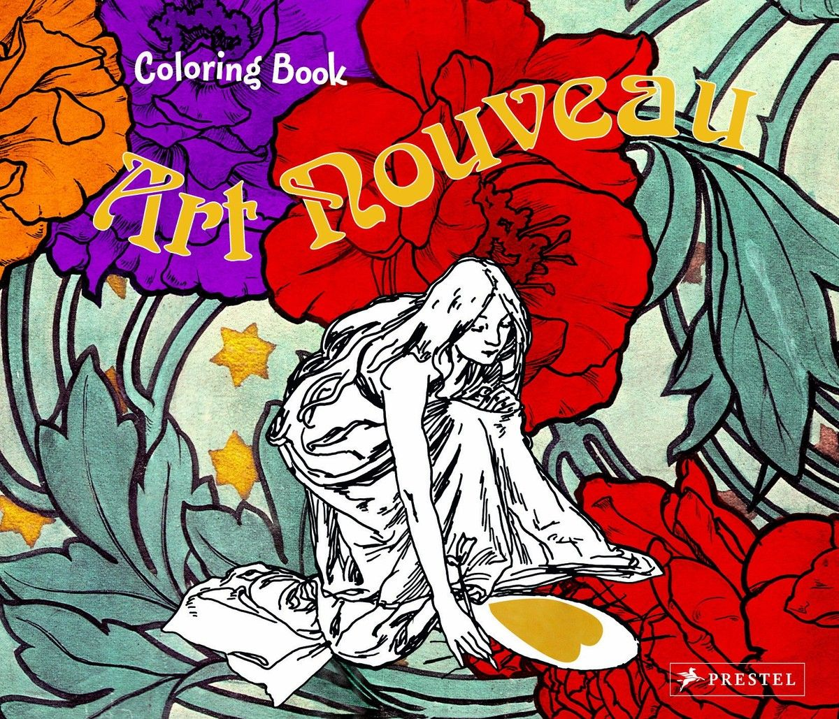 Colouring Book Art Nouveau по 369.00 руб от изд. Prestel