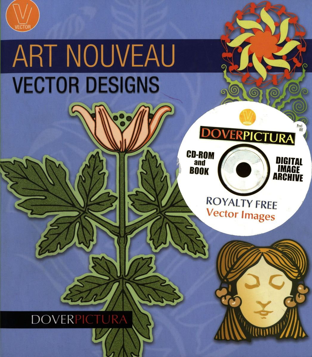 Art Nouveau Vector Designs + CD по 1 500.00 руб от изд. Dover