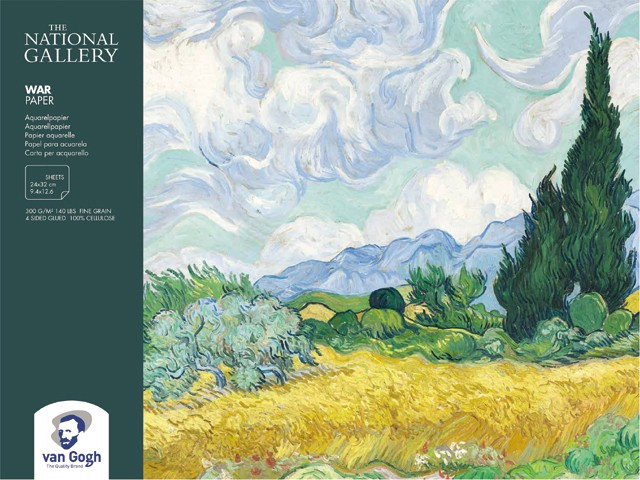 Альбом для акварели VAN GOGH NATIONAL GALLERY 300г/кв.м 240х320мм 12л. по 1 375.00 руб от Royal Talens