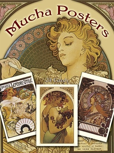 Mucha Posters Postcards : 24 Ready-to-Mail Cards по 298.00 руб от изд. Dover
