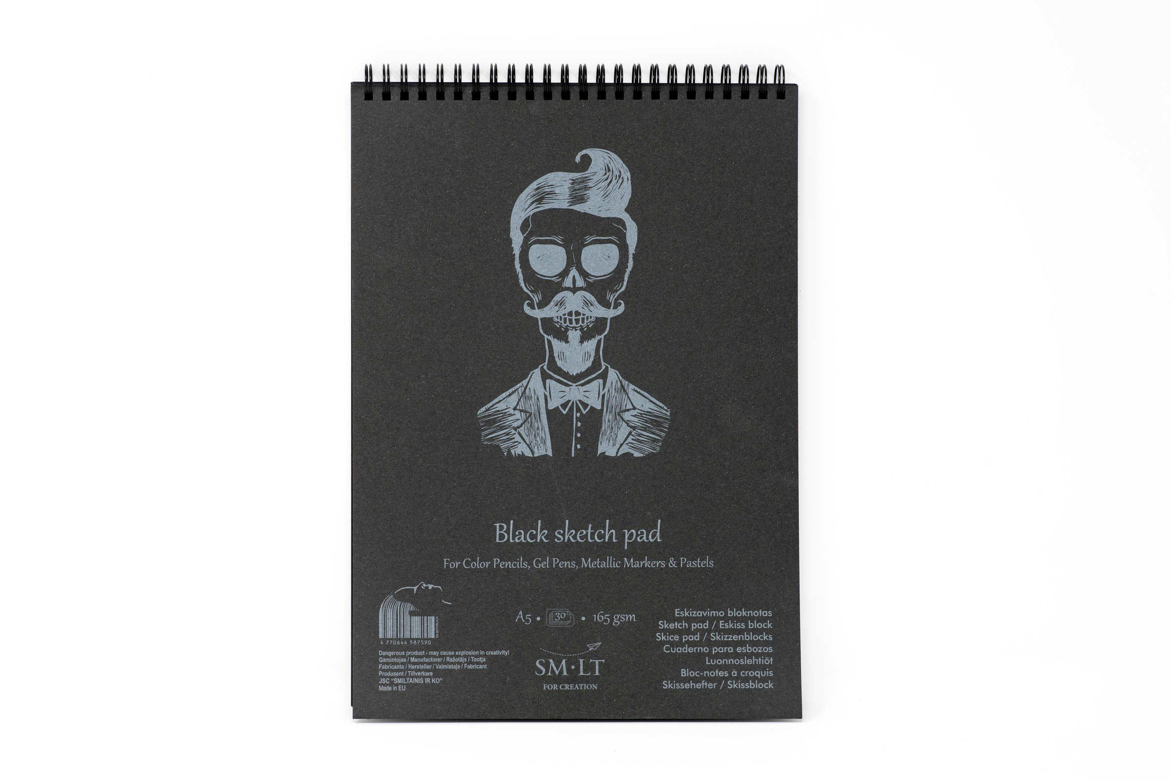 Скетчбук SKETCH PAD BLACK 165г/кв.м (А5) 148х210мм 30л. спираль по 405.00 руб от SM-LT