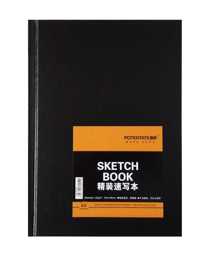 Скетчбук POTENTATE SKETCH BOOK 120г/кв.м 148х210мм 56л по 399.00 руб от Potentate