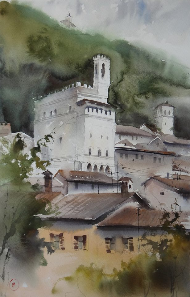 plein Air in Fabriano (Gubbio) Ильи Ибряева